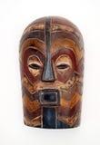 Деревянный высекаенный африканский лицевой щиток гермошлема Стоковые Фотографии RF