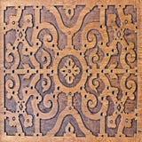 Деревянный высекать, античная умелая картина Стоковые Изображения RF