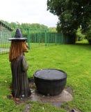 Деревянный высекать ведьмы Pendle Стоковые Фотографии RF