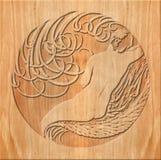 Деревянный высекать Стоковое Изображение RF