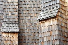 Деревянный гонт старый Стоковые Фотографии RF