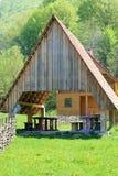 Деревянный дом в горах Стоковое фото RF