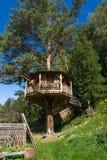Деревянный дом на дереве Стоковое Изображение