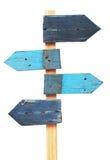 Деревянный дорожный знак стрелок Стоковое Фото