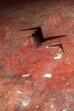 Деревянный дефект детали пола партера красный Стоковые Фото