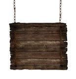 Деревянный знак изолированный на белизне. иллюстрация штока