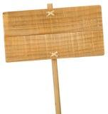 Деревянный знак изолированный над белизной Стоковая Фотография RF