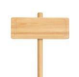 Деревянный знак изолированный на белой предпосылке Стоковое Изображение RF