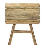 Деревянный знак на белизне Деревянный старый знак планок Стоковые Фото