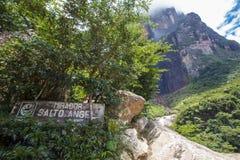 Деревянный знак на Mirador Salto Анджела Стоковая Фотография
