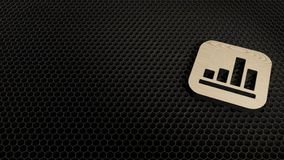 деревянный значок 3d финансового значка приложения представить иллюстрация вектора