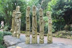 Деревянный идол на природе Стоковые Фото