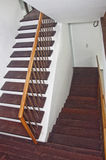 Деревянный дизайн лестниц Стоковое Фото