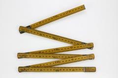 Деревянный измеряя метр Стоковая Фотография