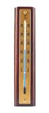 Деревянный изолированный термометр Градуса цельсия Стоковое фото RF