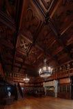 Деревянный интерьер библиотеки Стоковая Фотография RF