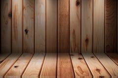 Деревянный интерьер комнаты с деревянными плитками стоковое изображение