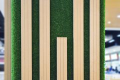 Деревянный и трава стоковое фото rf