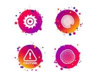 Деревянный и увидел круговые значки колеса вниманиях вектор иллюстрация вектора