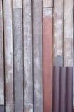 Деревянный и цинк для предпосылки сети Стоковые Фотографии RF