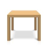 Деревянный квадратный журнальный стол Стоковые Изображения