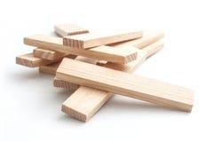 Деревянный кирпич на белой предпосылке Стоковые Изображения RF