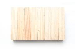 Деревянный кирпич на белой предпосылке Стоковое Изображение