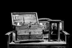 Деревянный комод Стоковое фото RF
