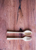 Деревянный комплект ложки Стоковое Фото
