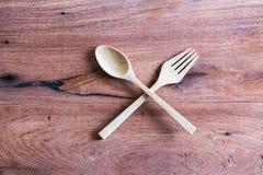 Деревянный комплект ложки Стоковое фото RF