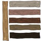 Деревянный комплект цвета образцов с различными заводами Стоковое фото RF