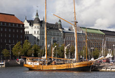 Деревянный корабль Стоковое Изображение