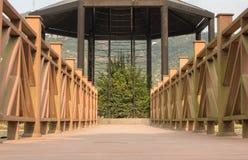 Деревянный коридор Стоковое Фото