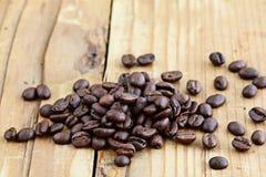 Деревянный кофе предпосылки Стоковое Изображение RF