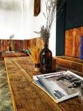 деревянный кофе стоковые изображения rf