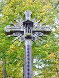 Деревянный крест, Литва Стоковые Фотографии RF
