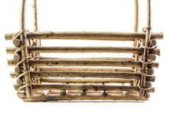 Деревянный крупный план корзины стоковые фото