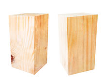 Деревянный кубический блок изолированный на белизне Стоковое фото RF