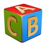Деревянный куб с письмами a, b, c бесплатная иллюстрация