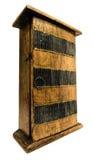 Деревянный кухонный шкаф Стоковое Изображение RF