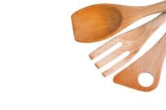 Деревянный лопаткоулавливатель кухни стоковое фото
