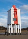 Деревянный маяк на пляже Стоковое фото RF