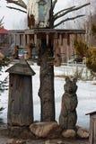 Деревянный медведь Стоковая Фотография