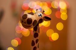 Деревянный милый жираф Стоковые Изображения
