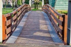 Деревянный мост в Marta стоковые изображения