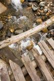 Деревянный мост, Уганда Стоковое Изображение RF