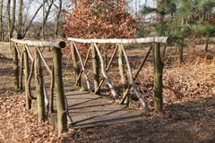 Деревянный мост. Стоковое фото RF