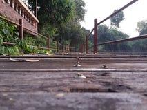 Деревянный мост Стоковое Изображение