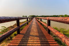 Деревянный мост стоковое изображение rf