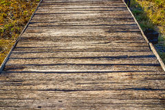 Деревянный мост Стоковое фото RF